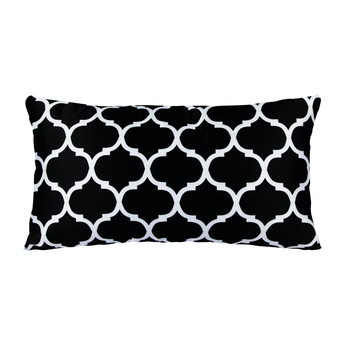 REVOPILLO Moroccan Black Cushion 30cmx50cm