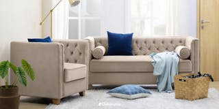 Silk&Cloud Sofa Helga Set Krem