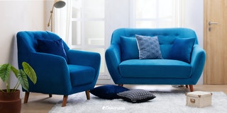 Silk&Cloud Sofa Citrus Set Biru