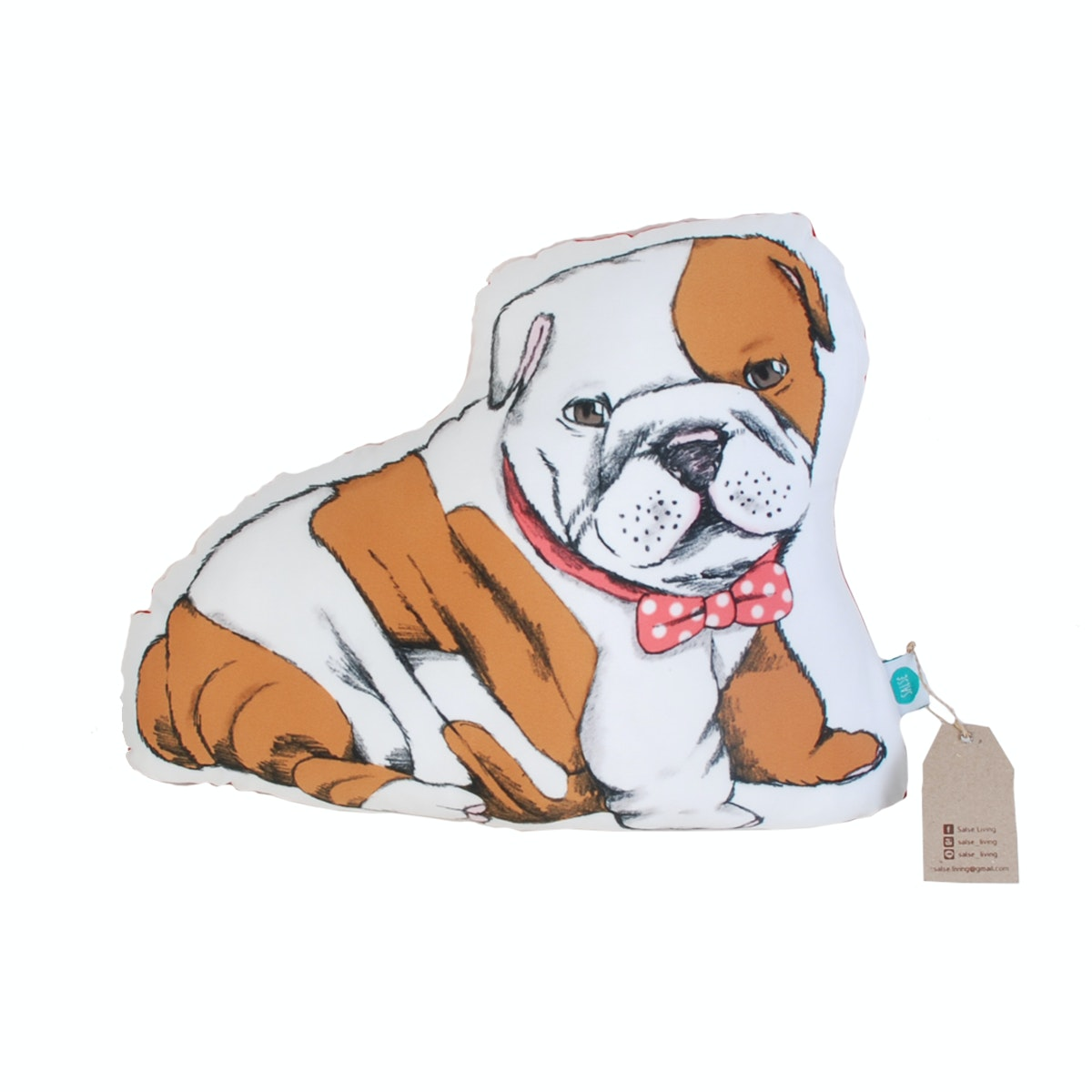 Salse Living Bulldog Plushie Cushion 32&40cm