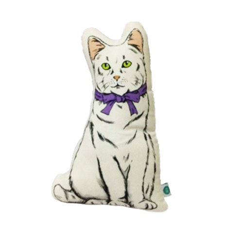 Salse Living Cat Plushie Putih Cushion 24&37cm