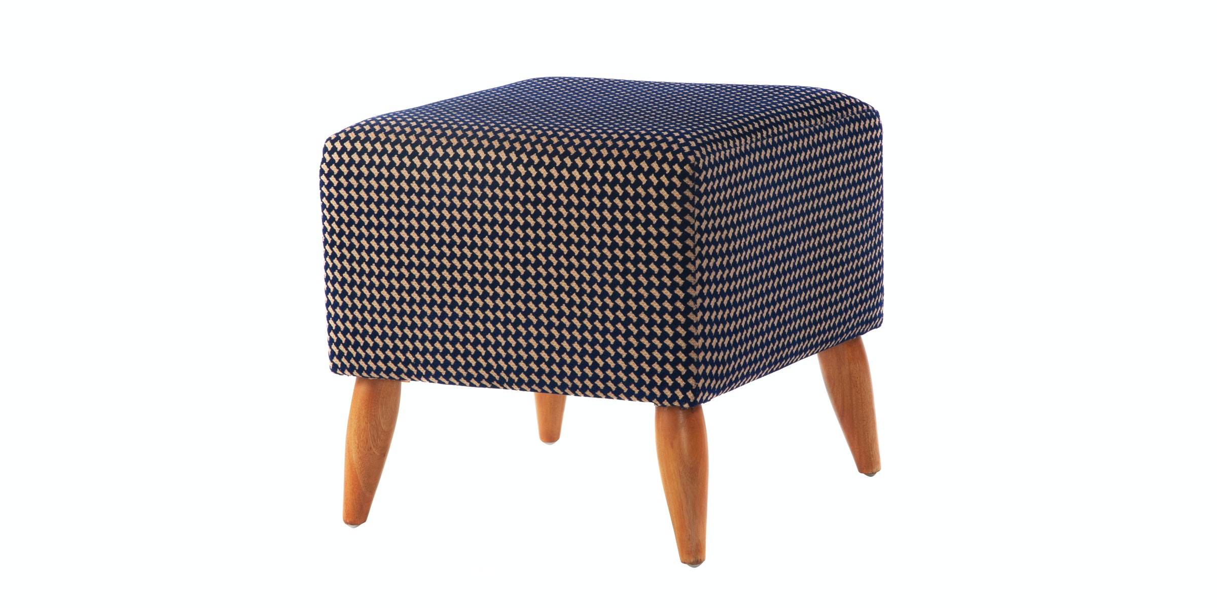 Seamus Furniture Houndstooth Square Stool