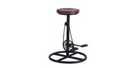 Seamus Furniture Circlo Rustic Barstool with pedals