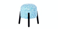 Seamus Furniture Cherokee Baby Blue Round Puff Stool