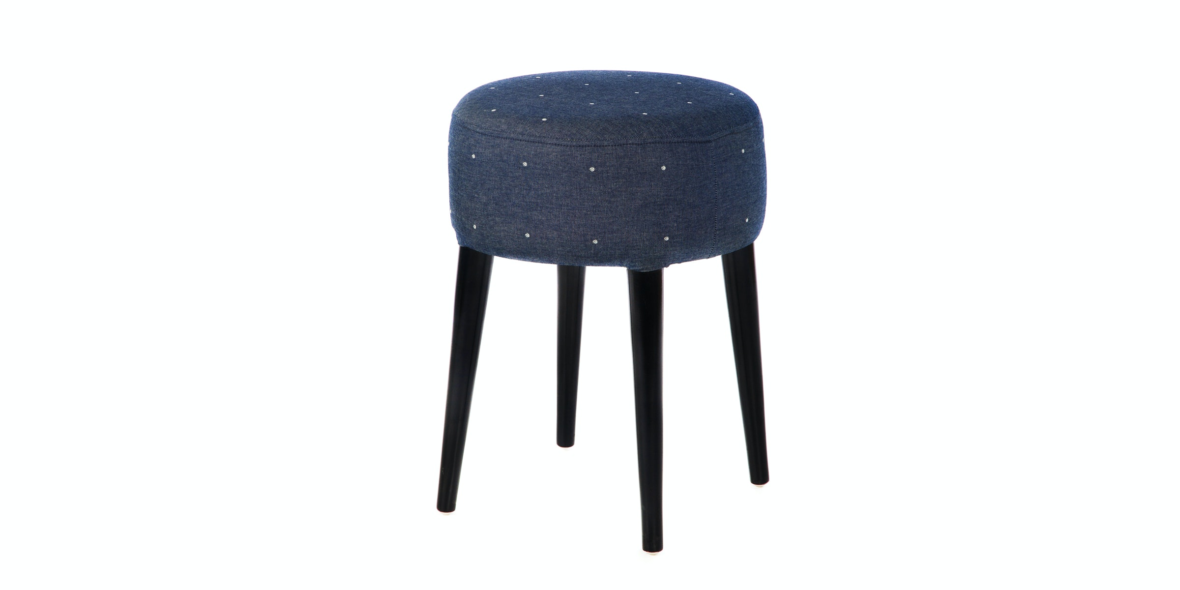 Seamus Furniture Polka Jeans Round Stool