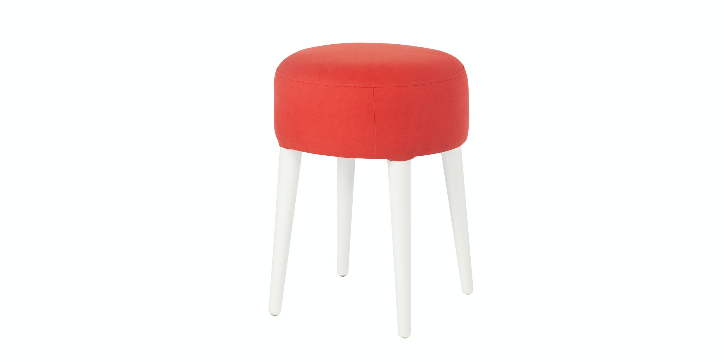 Seamus Furniture Rosso Canvas Round Stool