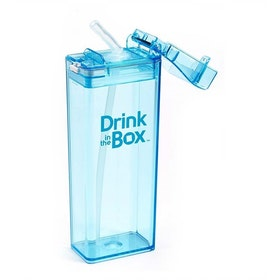 Drink in Box Botol Minum Sedotan Bahan Tritan 355ml Biru