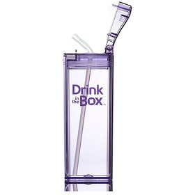 Drink in Box Botol Minum Sedotan Bahan Tritan 355ml Ungu