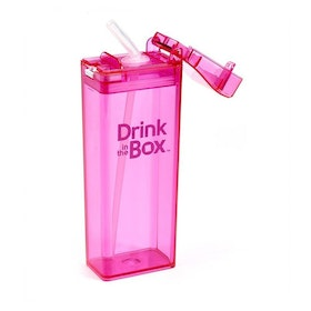 Drink in Box Botol Minum Sedotan Bahan Tritan 355ml Pink