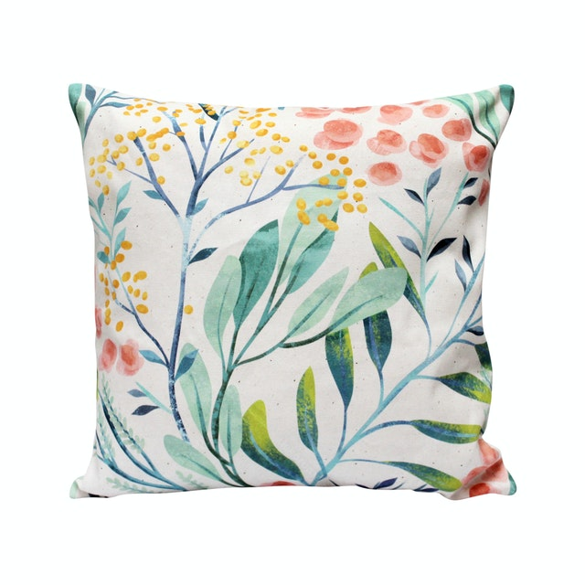 Seruni Living Cushion Cover Bunga Lantana 45x45cm 45x45cm ( No Insert )