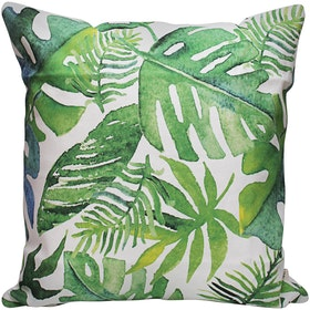 Seruni Living Cushion Cover Daun Monstera Hijau 45x45cm