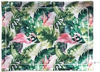 Seruni Living Placemat Daun Monstera dan burung Flamingo