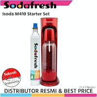 Sodafresh Soda Maker M410 - Family Set - Red - DrinkMate style