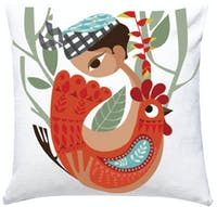 Sepiring Indonesia Ketut and the Rooster Cushion Cover