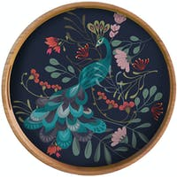 Sepiring Indonesia Peacock Garden Tray Table Nampan Meja