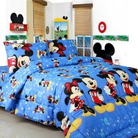 Sierra Bed Cover Dan Sprei Mickey Music Biru 180x200