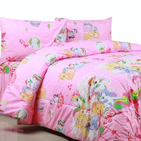 Sierra Bed Cover Dan Sprei Pony Heart Pink 180x200