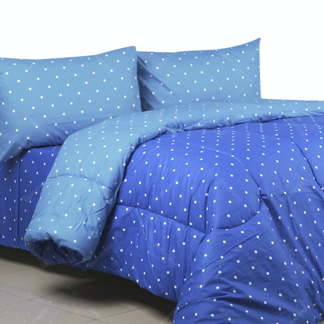 Sierra Bed Cover Dan Sprei Dottie Biru Mix Sky 160x200