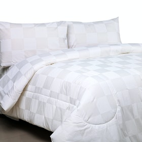 Sierra Bed Cover Dan Sprei Dobby White 180x200