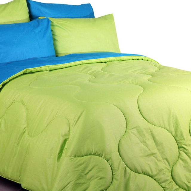 Sierra Bed Cover Dan Sprei Polos Lime Mix Tosca 180x200