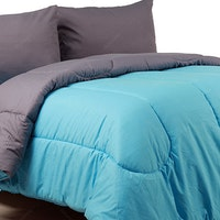 Sierra Bed Cover Dan Sprei Polos Turkish Mix Abu-Abu 160x200