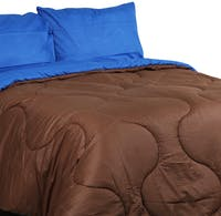 Sierra Bed Cover Dan Sprei Polos Coffee Mix Dark Biru 160x200