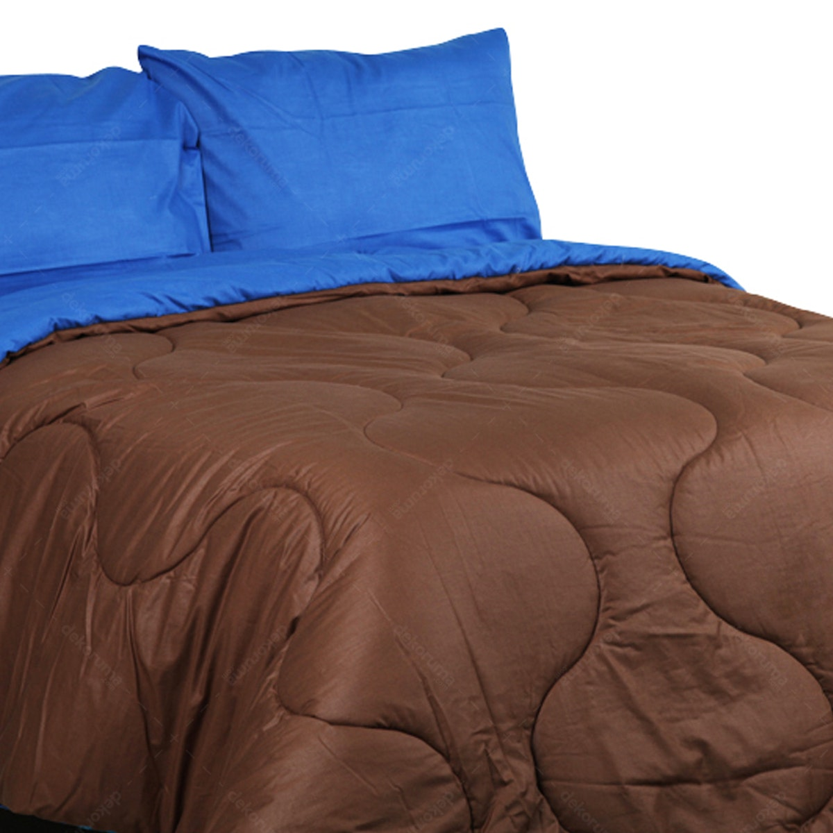 Sierra Sprei Polos Coffee Mix Dark Biru 160x200