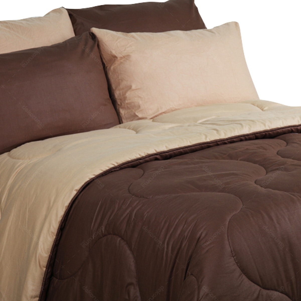 Sierra Bed Cover Dan Sprei Polos Coffee Mix Mocca 160x200