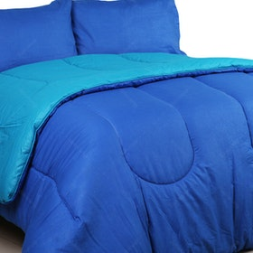Sierra Bed Cover Dan Sprei Polos Dark Biru Mix Tosca 100x200