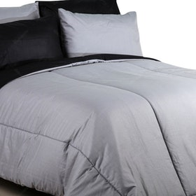 Sierra Bed Cover Dan Sprei Polos Abu-Abu Mix Black 160x200