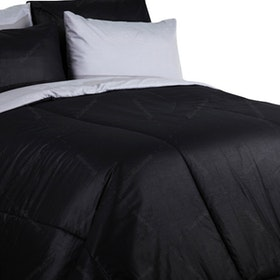 Sierra Bed Cover Dan Sprei Polos Black Mix Abu-Abu 160x200