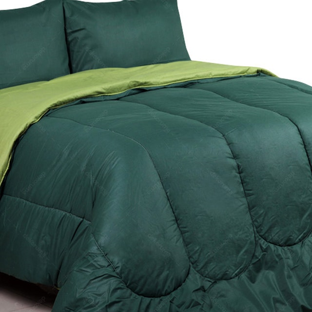 Sierra Bed Cover Dan Sprei Polos Emerald Mix Olive 160x200