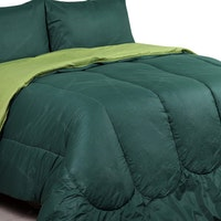 Sierra Bed Cover Dan Sprei Polos Emerald Mix Olive 180x200
