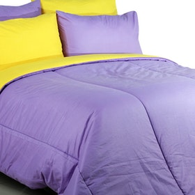 Sierra Bed Cover Dan Sprei Polos Lilac Mix Egg Yolk 100x200