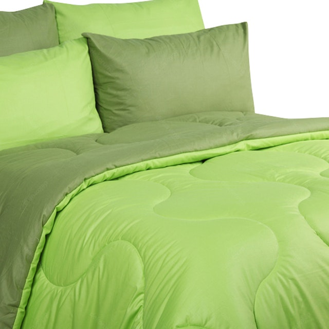 Sierra Bed Cover Dan Sprei Polos Olive Mix Lime 160x200
