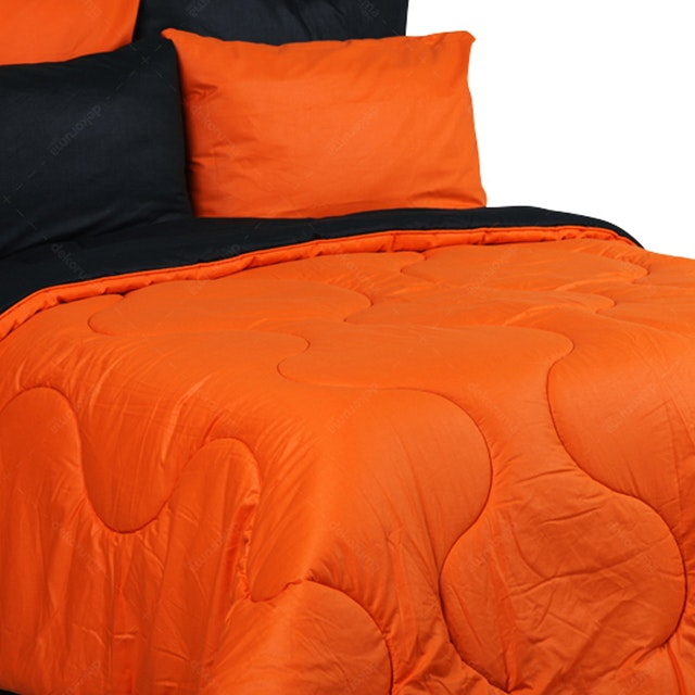 Sierra Sprei Polos Orange Mix Black 160x200