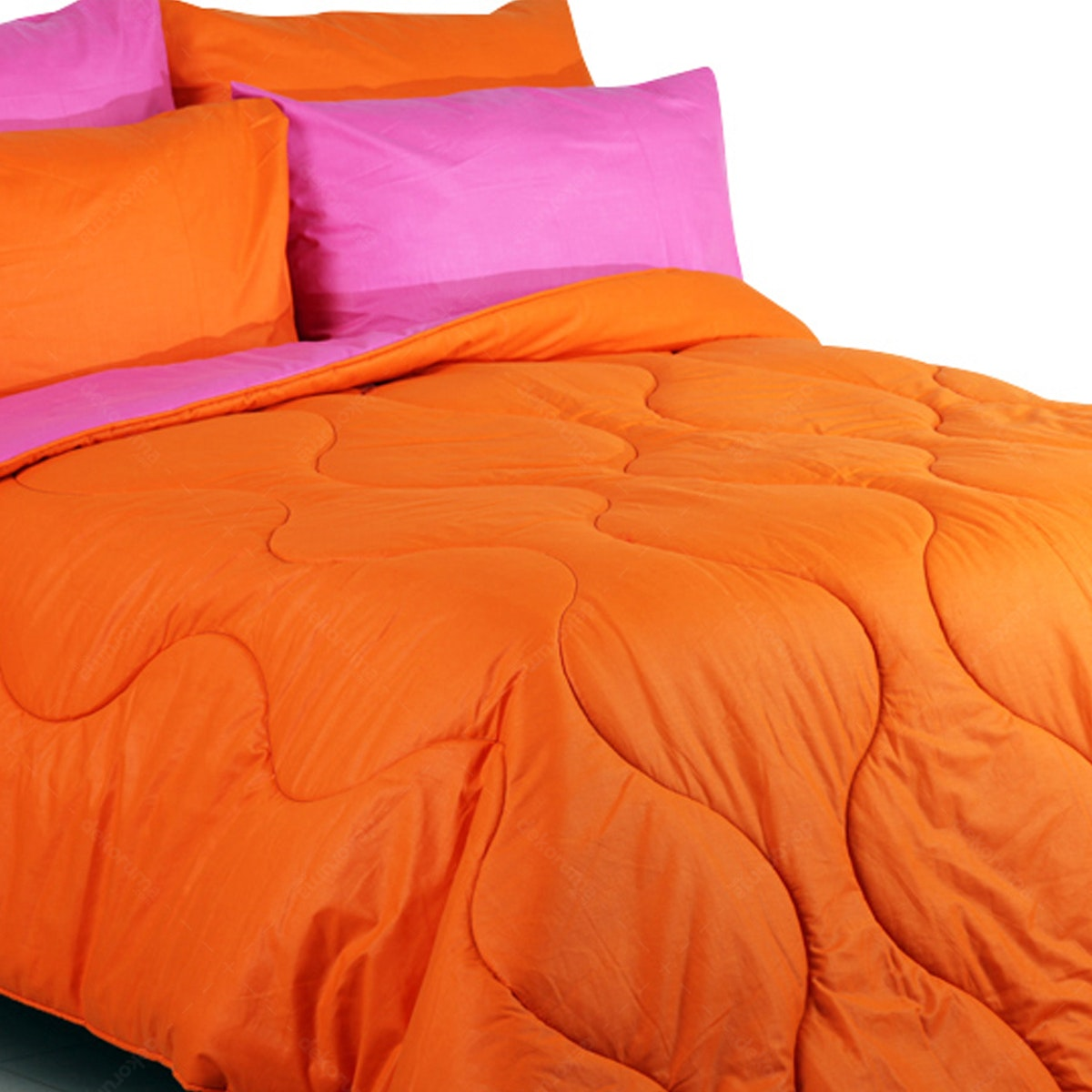Sierra Bed Cover Dan Sprei Polos Orange Mix Fanta 160x200