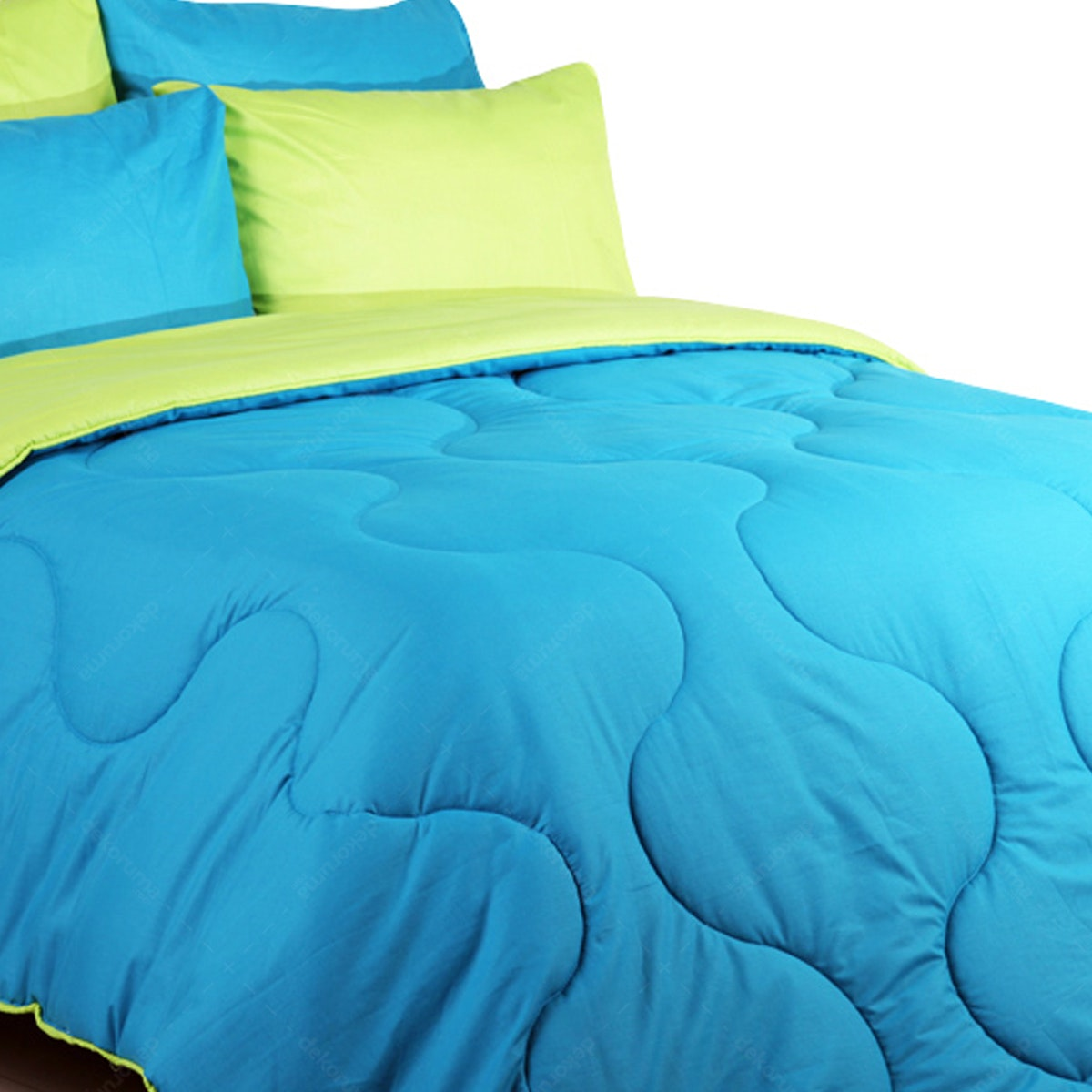 Sierra Bed Cover Dan Sprei Polos Tosca Mix Lime 160x200