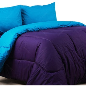 Sierra Bed Cover Dan Sprei Polos Violet Mix Turkish 120x200