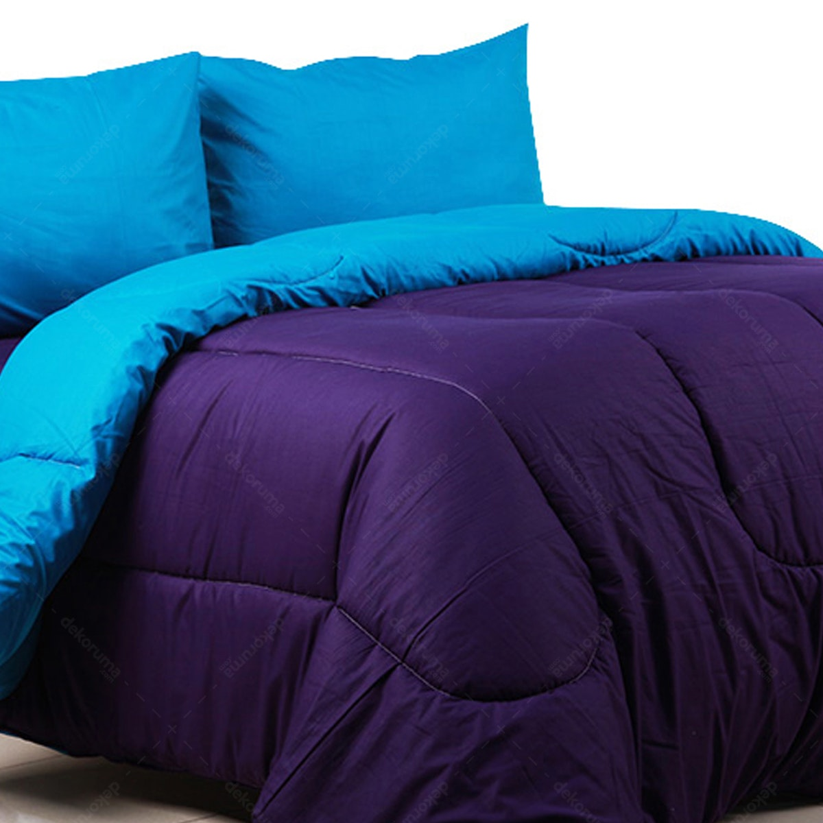 Sierra Bed Cover Dan Sprei Polos Violet Mix Turkish 160x200