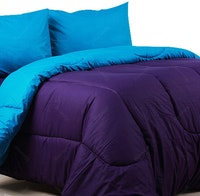 Sierra Bed Cover Dan Sprei Polos Violet Mix Turkish 180x200