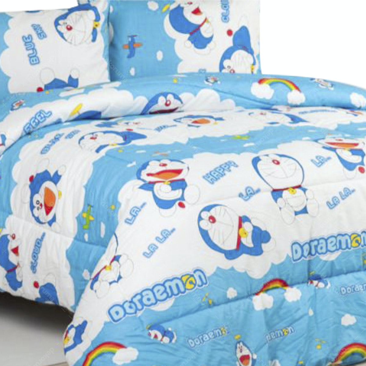 Sierra Bed Cover dan Sprei Doraemon Rainbow 100x200
