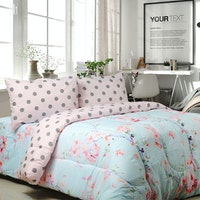 Sierra Bedcover dan Sprei Evelyn mix dottie 160x200
