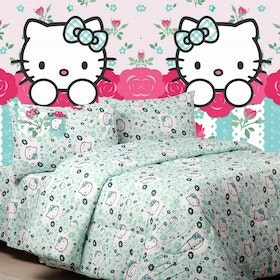 Sierra Sprei Kitty blooming tosca 180x200