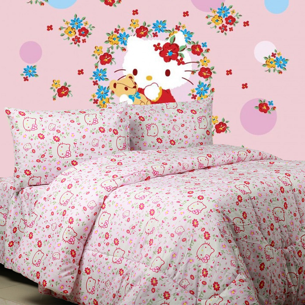 Sierra Sprei Kitty Blooming Pink 160x200