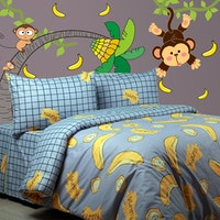 Sierra Sprei Monkey mix Banana 160x200