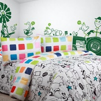 Sierra Bedcover dan Sprei Jungle x Square 160x200