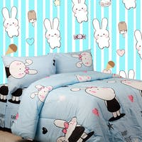 Sierra Sprei Rabbit Love Biru 120x200