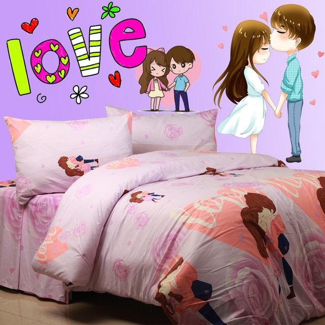 Sierra Sprei True love ungu 100x200