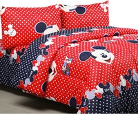 Sierra Bed Cover Dan Sprei Mickey Dot Merah 160x200